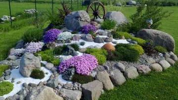 Как сделать альпийскую горку в саду