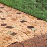 Декоративный бетон для садовых дорожек