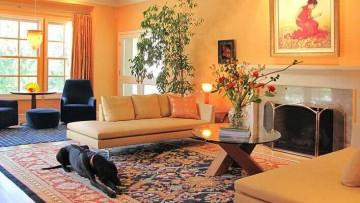 Персиковый цвет в интерьере дома